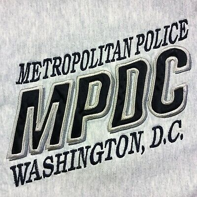 Gray MPDC Metropolitan Police Washington DC SWEATSHIRT Small S Embroidered Logo