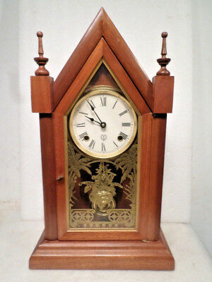 Vintage 'Batalha' Model Steeple Clock By Reguladora Portuguese Clock Company