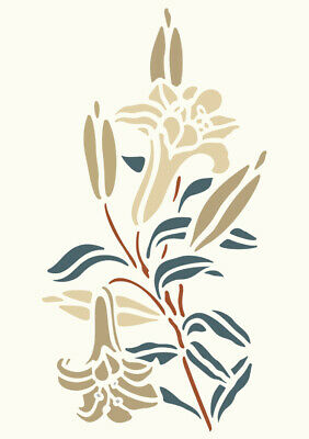 Lilly Flower Stencil Template Card making Crafts Paint Furniture Wall Art FL82