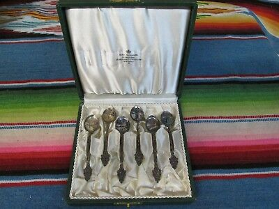 Vintage Sterling Silver Set Of 6 Dessert Spoons From Stockholm  Sweden