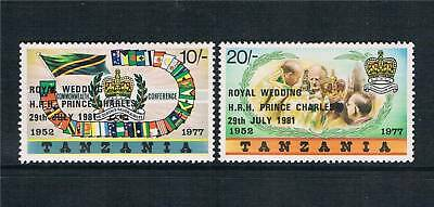 Tanzania 1981 Royal Wedding Ovpts. SG 325/6 MNH
