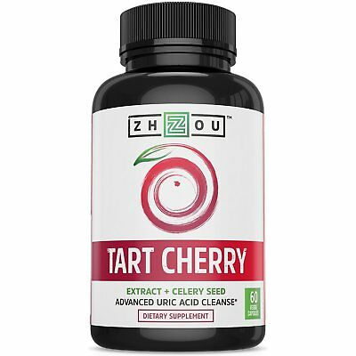 Tart Cherry Extract Capsules with Celery Seed - Advanced Uric Acid Cleanse for