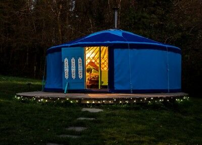 Mongolian Yurt Glamping Holiday/Break In West Wales. Convenient Private Location