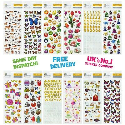 Fun Stickers Children Birthday Party Loot Bag Fillers Kid Decorating Action Pack