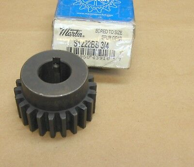 "NEW Martin S1222BS 3/4 Steel Spur Gear S1222 BS 3/4"" bore 22 teeth 12 Pitch"