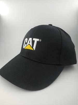 New CATERPILLAR CAT black embroidered Trademark, gold buckle CAP One Size