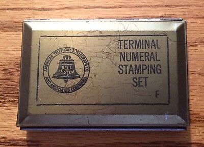 antique bell system terminal letter stamping set Great Condition