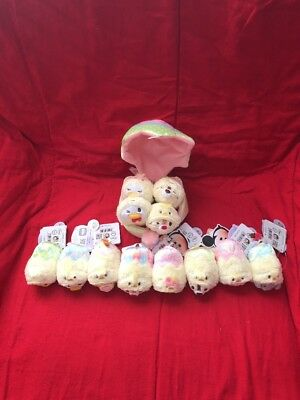 Authentic JAPAN Disney Store 2016 Easter Tsum Set and Egg set of 12 nwt