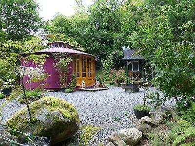 Unique Waterfall Pagoda Yurt Glamping Holiday / Short Break In West Wales