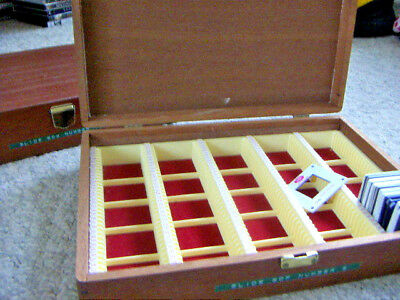 Two Wood Slide Storage Boxes Felt Lined 175 Compartments Each + 20 Blanks Photo