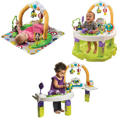 NEW Exersaucer World Traveler Triple Fun Plus Activity Center By Evenflo 0-24 Mo