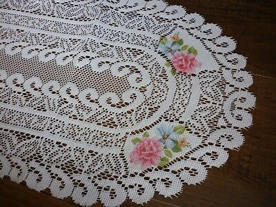 Amazing lace style runner, with floral design, table centre 62 x 25 cm