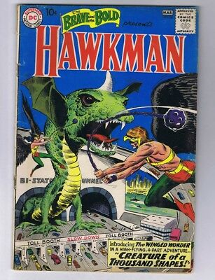 Brave and the Bold 34 (Solid!) 1st app. S.A. Hawkman, Hawkgirl, Byth (c#17490)