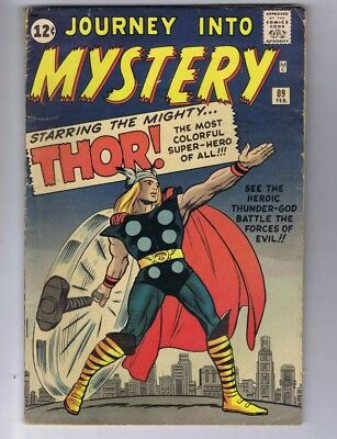 Journey into Mystery 89 (Solid!) Iconic Thor cover; Origin retold; 1963 (c#17498