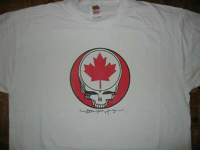 CANADA Grateful Dead T-SHIRT Steal Your Flag Jerry Garcia Lesh Weir & Company