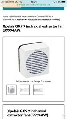 Xpelair Window Wall Roof Fan 89994AW NEW never been used!
