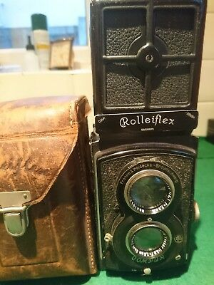 Rolleiflex TLR with original case 1932 serial No 326870 Carl Zeiss Jenna lens
