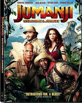 Jumanji: Welcome to the Jungle (DVD, 2018) NEW* PRE-ORDER SHIPS ON 03/20/18