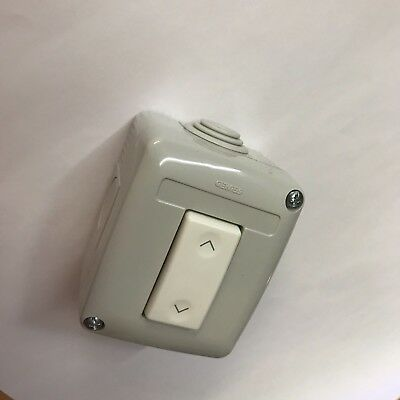 Roller Shutter Rocker Switch Gewiss Control - Push Up / Down