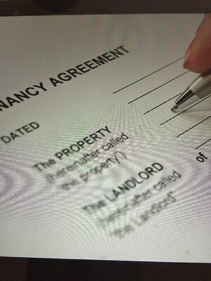 Assured Shorthold Tenancy Agreement AST Landlord Rent Section 21 EMAIL ONLY 2017
