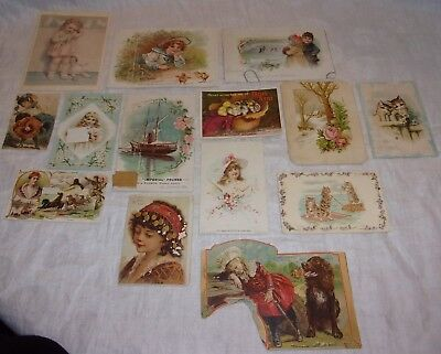 Lot Of Old/antique Victorian Cards, Postcards, Advertising Cards.....