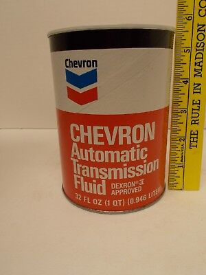 Vintage CHEVRON Automatic Transmission Fluid Oil Cardboard Can Coin Bank