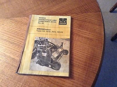Kronevator Instruction And Spares Part Manual