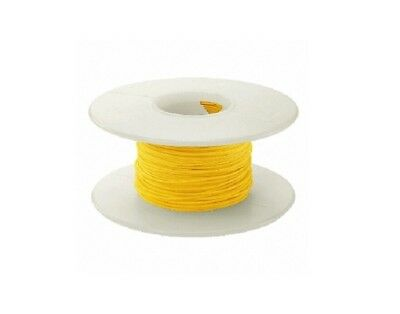 28 AWG Kynar Wire Wrap UL1422 Solid Wiremod type 100 foot spools YELLOW NEW!