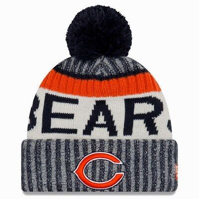 1ece20445b2 New Chicago Bears 2017 Nfl New Era On Field Official Sideline Knit Beanie