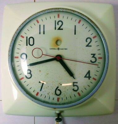 """GE General Electric Telechron 2H20 """"The Epicure"""" Ivory Wall Clock ~ TESTED!!!!!!"""