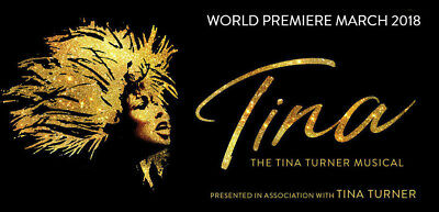 Opening night: 2 Tina Turner musical tickets London Aldwych 21 March 2018 premie