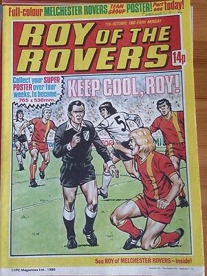 Roy of the Rovers 11th October 1980 Centre Page Feature Melchester Rovers