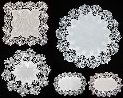 Amazing White Easter Tablecloth Doily Napkin Placemat Table runner Round Square