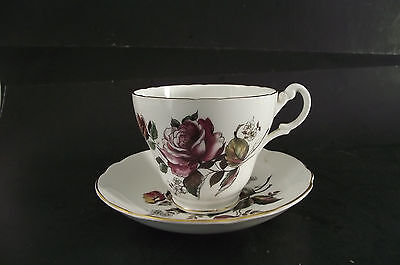 Royal Ascot Bone China Made In England Floral  Tea Cup And Saucer
