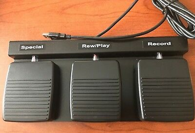DAC FP-110-USB Three Function Foot Pedal for PC Handsfree Dictate Applications