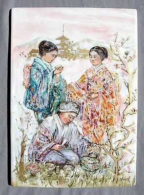 EDNA HIBEL Porcelain Tile THE ART of TEA, Limited Edition of 1000