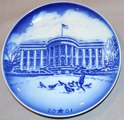 BING & GRONDAHL 2001 Christmas Heritage Plate White House: Mint in Box