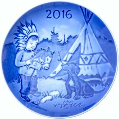 BING & GRONDAHL 2016 Children's Day Plate B&G - Little Indian Chief - New in Box