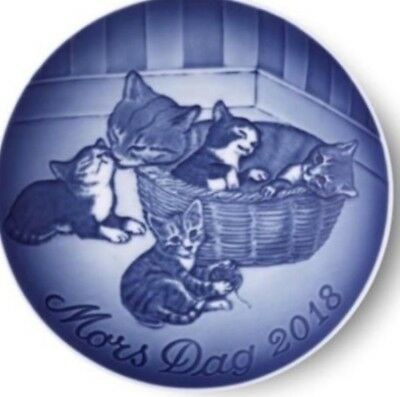 BING & GRONDAHL 2018 Mother's Day Plate B&G CAT with KITTENS – New in Box!