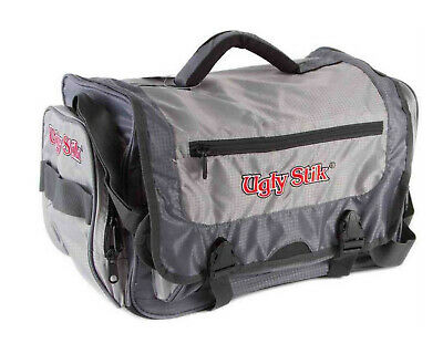 Ugly Stik Fishing Tackle Bag with 4 Large Tackle Trays and Multiple Pockets