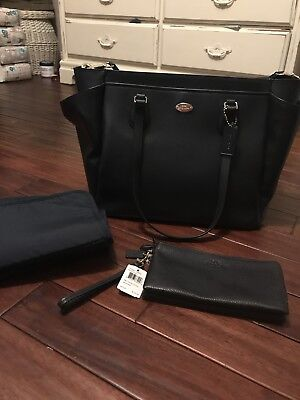 NWT COACH Diaper Bag with Changing Pad and Matching Wristlet
