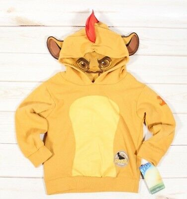 Disney Junior Lion Guard Hoodie With Mask Toddler Size 2T