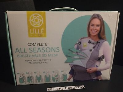 Lillebaby 6 in 1 All Seasons Breathable 3D Pinstripe Grey - Breton Stripe NIB