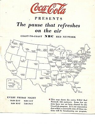 Scarce!  1930 Coca'cola Ad Proofs For Radio Program The Pause That Refreshes