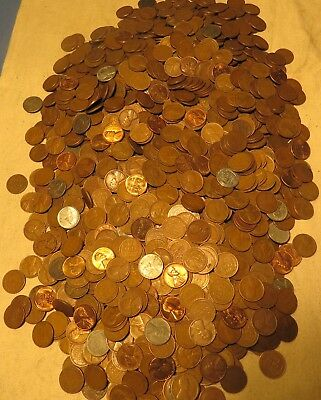10 lbs Lincoln Wheat cents 1909-58 Old hoard with many early better date pennies
