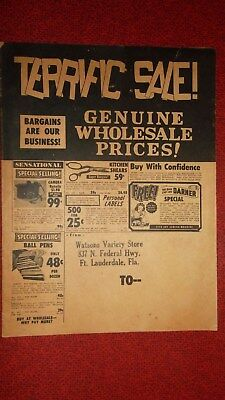 FT. LAUDERDALE  -  Watsons Variety Store  -  32 Illustrated Pages Vintage