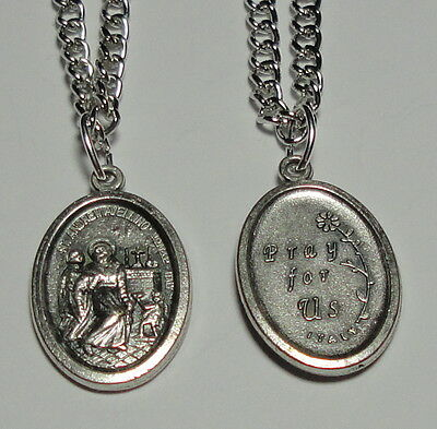 St Andrew Avellino Holy Medal on Chain Stroke Victims Catholic Liturgy Lawyers
