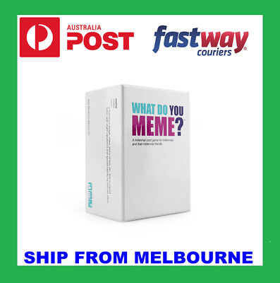 Genuine What Do You Meme? Board Card Funny Fun Game Basic Main Party Core Set