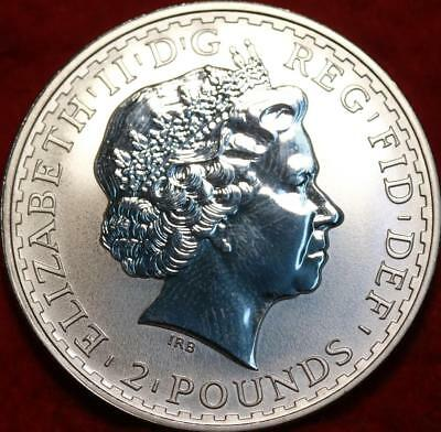 Uncirculated 2002 Great Britain Two Pounds .999 Silver 1oz Foreign Coin