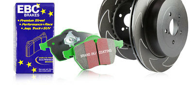 EBC Rear Blade Sport Brake Discs & Greenstuff Pads VW Touran 2.0 TD (2003 > 15)